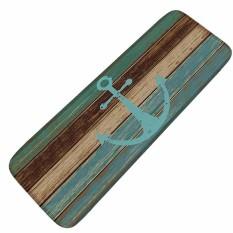 40x120cm Wooden Anchor Printed Entrance Floor Mat Anti-Slip Kitchen Mats Washable Carpet For Living Room Bedroom Area Rug Entrance Doormat - intl