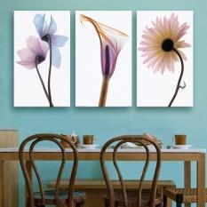 40X60CMFashion Elegant 3PCS Canvas Wall Painting Beautiful Transparent Flower Home Decoration Art Picture Paint on Canvas Prints