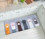 Price 45 X 120Cm Cute Cat Claw Printed Mat Doormats Bathroom Carpets Floor Mats Bedroom Rugs Kitchen Rug Living Room Anti Slip Intl China