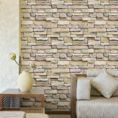 45CM x 10M Stone Schist Decal Self Adhesive Wallpaper Bedroom Living Room Decor - Grey - intl