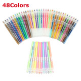 48 Gel Pens Set Glitter Neon Paster Metallic Colour Art 8 1 0Mm Fine Point Promo Code