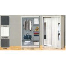 4FT Sliding Wardrobe 1020 White Wash