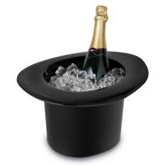 4L Acrylic Top Hat Cap Shaped Ice Bucket Champagne Wine Bottle Drinking Cooler - intl