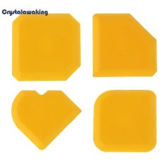 4pcs Cement Silicone Glass Scraper Sealant Grout Remover Home Caulking Tool (Yellow) - intl