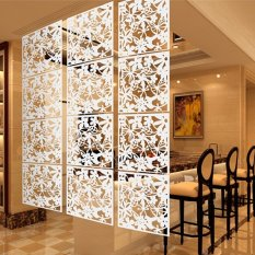 4Pcs Hanging Screen Partition Room Divider Butterfly Flower Wall Sticker White Lowest Price