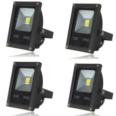 Low Price 4Pcs Ip65 10W Led Flood Light Wall Yard Garden Lamp Outdoor Spotlight Warm White Intl