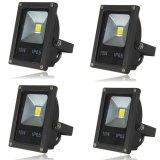 4Pcs Ip65 10W Led Flood Light Wall Yard Garden Lamp Outdoor Spotlight Warm White Intl China