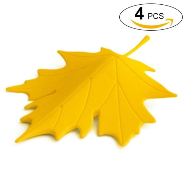 4Pcs Leaf Stoppers Anti-collision Maple Leaf Shaped Door Stops Wedge Stoppers Floor Stops for Room - intl
