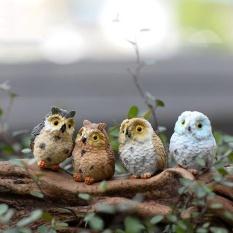 4pcs Miniature Owls Garden Craft Terrarium Diy Landscape Decor Home Room - Intl By Mingrui.