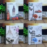 Brand New 4Pcs Photo Album 100 Photos Storage Case Family Wedding Memory Picture Film Book Leaning Tower Belfry Classic Car Eiffel Tower
