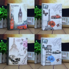 Review 4Pcs Photo Album 100 Photos Storage Case Family Wedding Memory Picture Film Book Leaning Tower Belfry Classic Car Eiffel Tower Oem