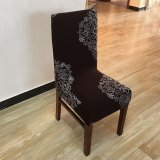 4Pcs Printing Flower Spandex Stretch Dining Chair Cover Restaurant For Weddings Banquet Folding Hotel Chair Covering Reviews