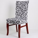 Recent 4Pcs Removable Stretch Slipcovers Short Home Dining Room Stool Chair Seat Cover Flat Black White Intl