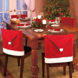 4Pcs Set New Santa Red Hat Chair Covers Christmas Decorations Dinner Chair Xmas Cap Chair Backrest Deco Coating Home Decoration Intl Compare Prices