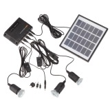 For Sale 4W Solar Powered Panel 3 Led Light Lamp Usb 5V Cell Mobile Phone Charger Home System Kit Garden Pathway Stair Camping Fishing Outdoor