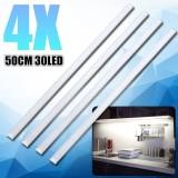 List Price 4X 50Cm Kitchen Under Cabinet Counter Lighting Led Showcase Strip Light Fixture Warm White Intl Not Specified