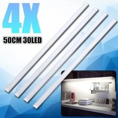 4x 50CM Kitchen Under Cabinet Counter Lighting LED Showcase Strip Light Fixture Warm White - intl