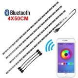 Cheapest 4X 50Cm Usb Led Rgb Bluetooth Multi Color Strip Light Kit Tv Backlight Intl Online