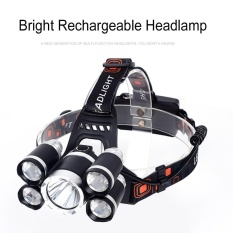 Price 5 Led Headlamp 4 Modes T6 4 Xpe Led Head Light Waterproof 18650 Rechargeable Head Flashlight Torch For Outdoor Sports Style Single Lamp Oem Original