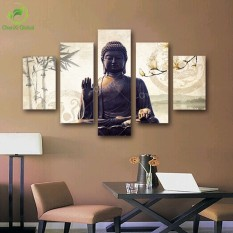 5 Piece Canvas Art Modern Printed Buddha Painting Picture Decoration Buddha Paintings Wall Canvas Pictures For Living Room Unframed - Intl