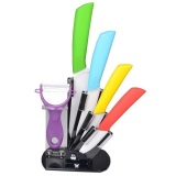 Purchase 5 Piece Ceramic Knives Set Holder Online