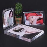 Double Sided Crystal Acrylic Hem Table Card Coupon