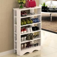 The Cheapest 5 Tier 75Cm Wooden Shoe Rack White Online