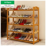 Buy Cheap 5 Tiers Bamboo Bamboo Shoes Storage Rack Shoe Organizer High Heel Boot Storage Shoes Cabinet Multi Purpose Rack