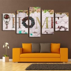 5 x HOME Colorful Classical Decorative Canvas Painting No Frame Wall Art Display Yellow - intl