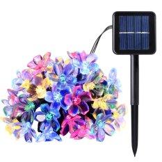 Review 50 Leds 7M Peach Ledertek Flower Solar Lamp Power Led String Fairy Lights Solar Garlands Garden Christmas Decor For Outdoor Mulit Color Intl On China