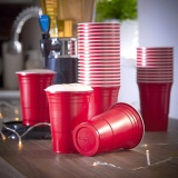 Discount 50 Pack Red Cup Cold Plastic Party Cups 16 Ounce Drinking Cups Washable Perfect Funny Beer Pong Games Intl
