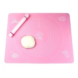 How Do I Get 50 X 40Cm Nonstick Rolling Pin With Silicone Large Pastry Mat With Measurements Thicken Fondant Mat M Size Intl