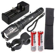 5000LM Zoomable Facus XM-L T6 LED Flashlight Torch Light+2X18650 Battery+Charger - intl