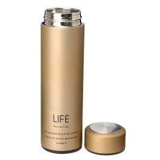 Best Price 500Ml Stainless Steel Tea Water Coffee Flask Vacuum Bottle Thermoses Travel Cup Gold Intl