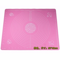 Sale 50 40Cm Silicone Pastry Mat With Measures Non Stick Silicone Dough Rolling Mat Cake Pad Baking Tool Pink Color Online China
