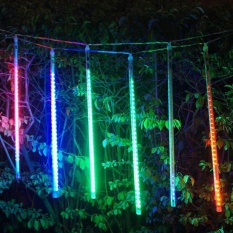 50cm 8 Tubes LED Falling Rain Meteor Shower Light Fairy Lights Christmas Decor (Colorful) - intl Singapore