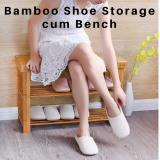 Compare 50Cm Bamboo Shoe Rack Organizer C*m Bench Convenient Seat For Wearing Taking Off Shoes