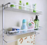 Buy 50Cm Space Aluminum Kitchen Bathroom Wall Mounted Storage Rack With Towel Bar Hook Intl Online China