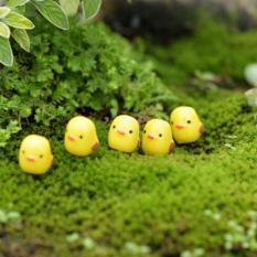 50pcs Mini Yellow Chicken Micro Fairy Garden Miniature Decoration