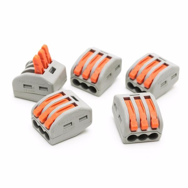 50PCS Suyep Compact Splicing Connector 400 V 28-12 AWG PCT-213/222-413 - intl