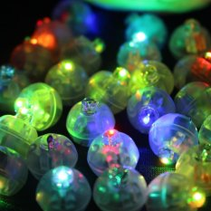 50Pcs/lot Color Round Mini Led RGB Flash Ball Lamp Put in paper Lantern Balloon Lights For Christmas Wedding Party Decoration - intl