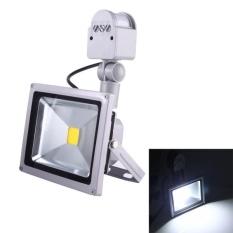 Where To Buy 50W 1 Led 5000 5500Lm Ip65 Waterproof Backpack Style Led Pir Motion Sensor Outdoor Floodlight Lamp Ac 110 260V White Light Intl