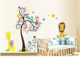 Promo 50X70Cmowl Lion Animal Tree Vinyl Wall Stickers Kids Baby Children Decor Home Wall Paper Decal Deco Art Sticker New Big