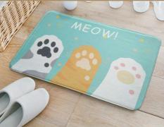 Best Rated 50X80Cm Meow Cat S Paw Mat Home Carpet Kitchen Rugs Antislip Floor Living Room Bed Rug Doormat Anitskid Cartoon Tapis 4 Sizes Intl