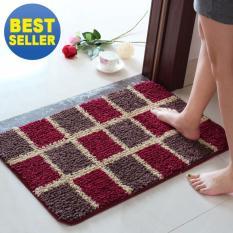 Price Comparisons 50X80Cm Pattern Printed Bathroom Carpets Doormats Anti Slip Polyester Floor Mat Pad For Living Room Bath Kitchen Square Pattern Intl