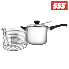 Price 555 Stainless Steel Deep Fryer Set With Tri Ply Base 18Cm Singapore