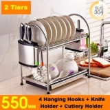 How To Get 55Cm Multi Functional Stainless Steel Dish Rack Kitchen Storage Shelf Drainer Tray Dryer Sink
