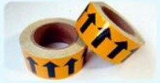 Discount 5Cm Pipe Tape Color Ring Flow Arrow Fire Strip China