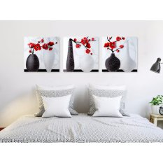 5D Diamond Painting Oly LA200-1 Vase 40x40cm 3 pieces Round DIY Cross Stitch Crystal Wall Art Pictures Decorative Full Diamond Embroidery - intl