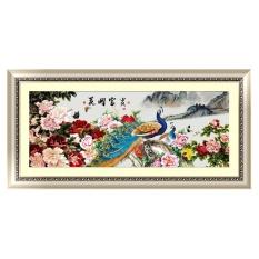 5D DIY Diamond Embroidery Painting Cross Stitch Flower Peacock Home Decor - intl